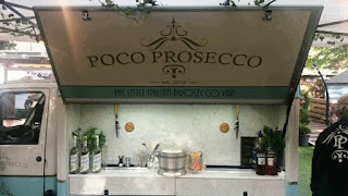 Draft prosecco van - Edinburgh Food Festival.