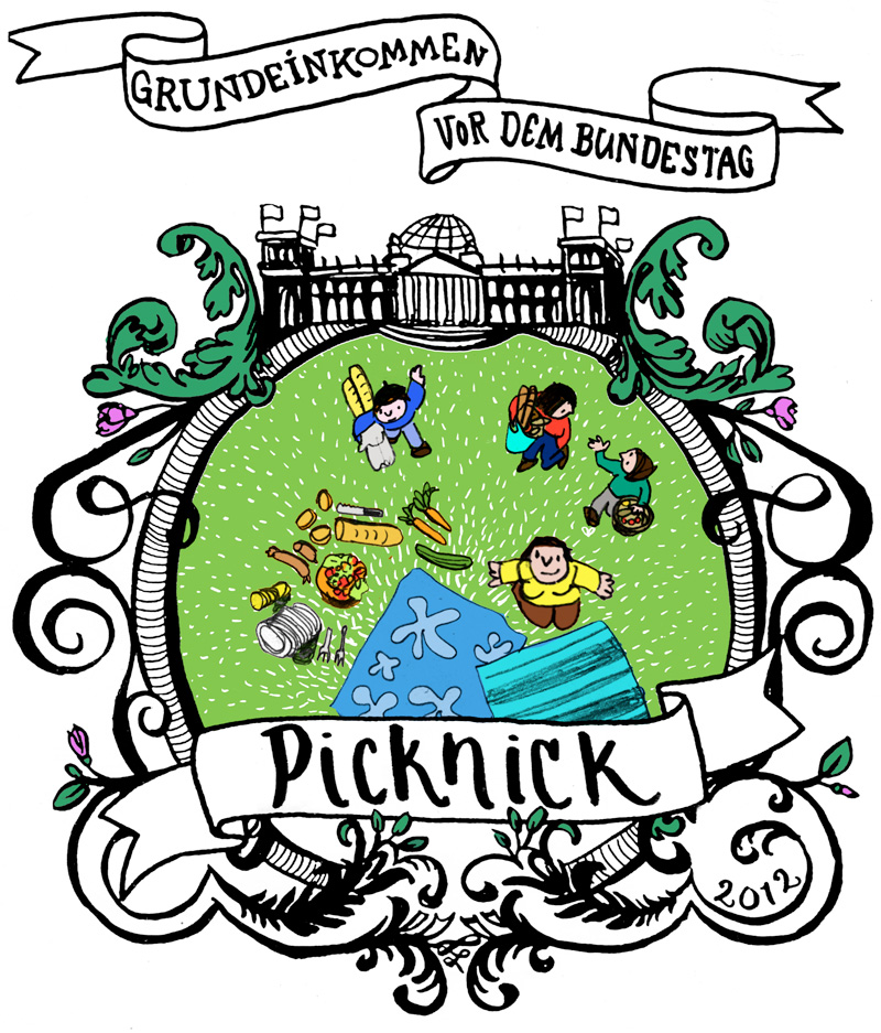 Grundeinkommen/ Picknick vor dem Bundestag am 09. Mai 2012