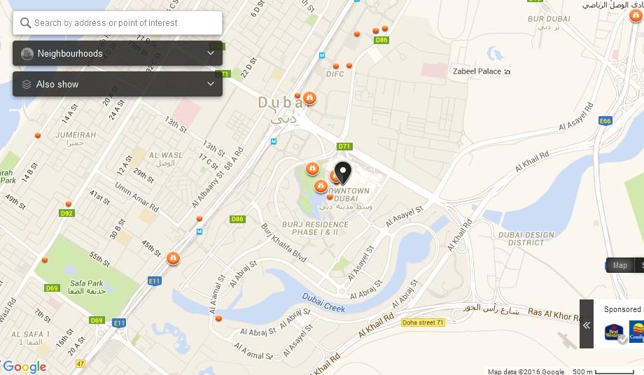 UAE Dubai Metro City Streets Hotels Airport Travel Map Info: Dubai Mall Dubai Map - Dubai ...