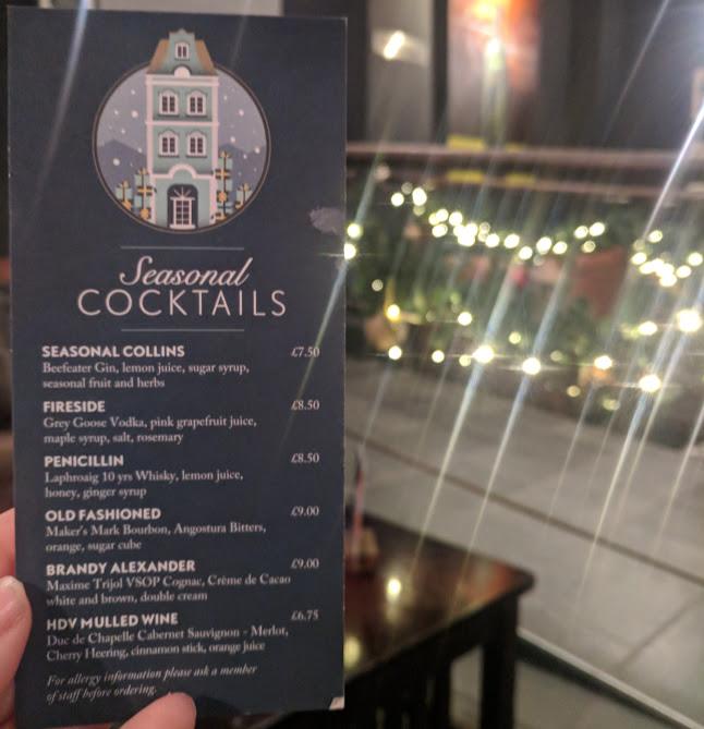A Grown-Up Festive Weekend in Ouseburn - christmas cocktails at hotel du vin
