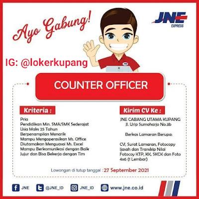 Lowongan Kerja JNE Cabang Utama Kupang Sebagai Counter Office