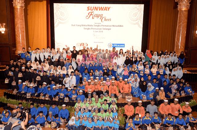 Sunway Raya Cheer Meraikan Anak-Anak Yatim Bersama Permaisuri Selangor