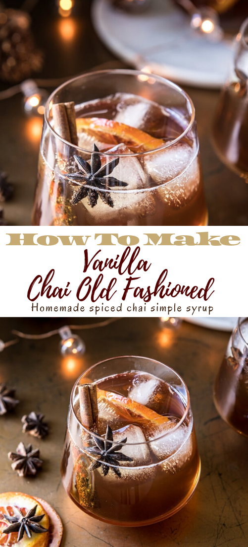 Vanilla Chai Old Fashioned #healthydrink #drinkrecipe #smoothiehealthy #cocktail