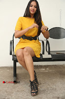 Actress Poojitha Stills in Yellow Short Dress at Darshakudu Movie Teaser Launch .COM 0200.JPG