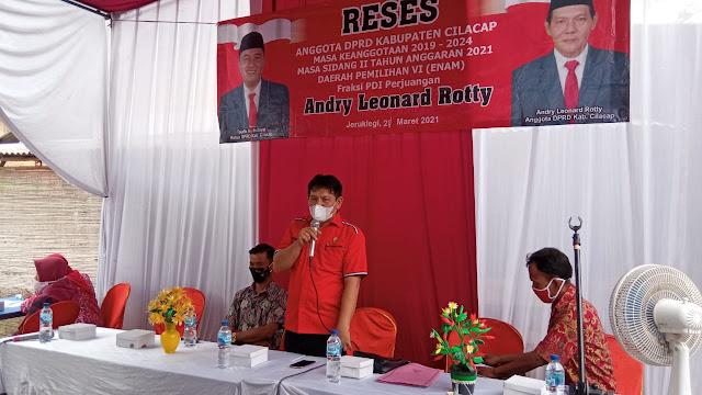 Reses, Andry Leonard Rotty Prioritaskan Infrastruktur dan Pertanian