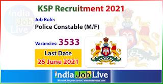 ksp-recruitment-2021-apply-3533-posts-police-constable-vacancies-online-indiajoblive.com