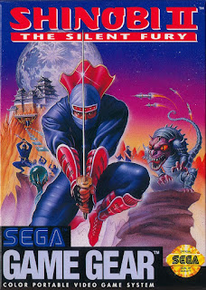 Portada del cartucho de la portátil Sega Game Gear: Shinobi II, 1992