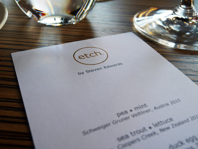 Menu at Etch restaurant Brighton