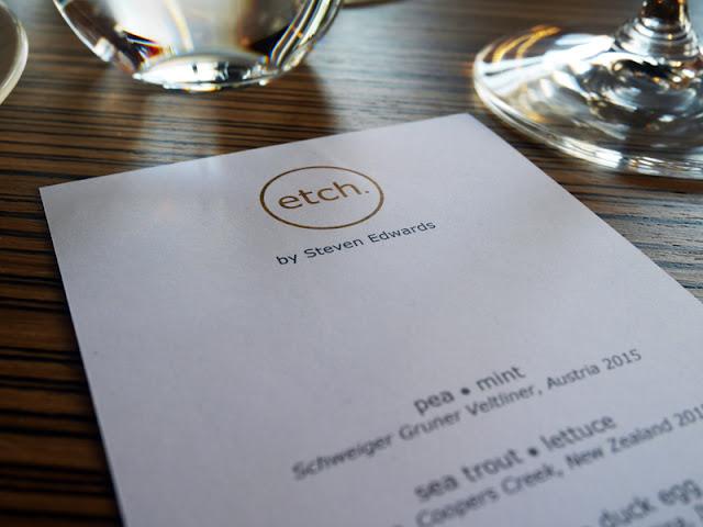 Menu at Etch restaurant Brighton