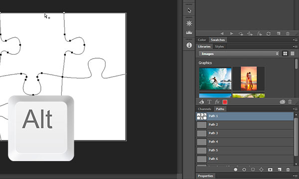 Alt + click with the Direct Selection Tool to select the path in photoshop