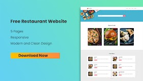 Download Restaurant Website Template for FREE