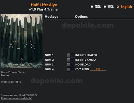 Half Life Alyx Sınırsız Can, Mermi +4 Trainer Hilesi İndir 2020