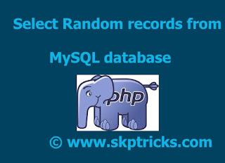 40/5000 sélectionnez l'enregistrement aléatoire de la base de données mysql, select random record from mysql database