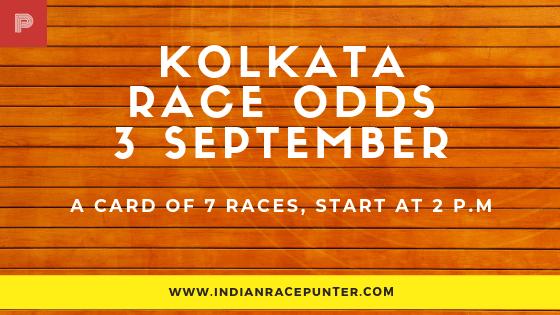 Kolkata Race Odds 3rd September
