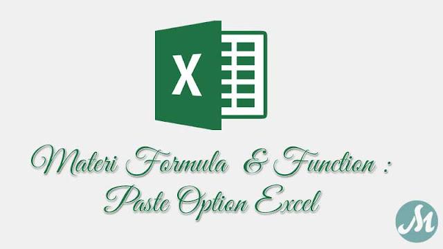 Paste Option Excel