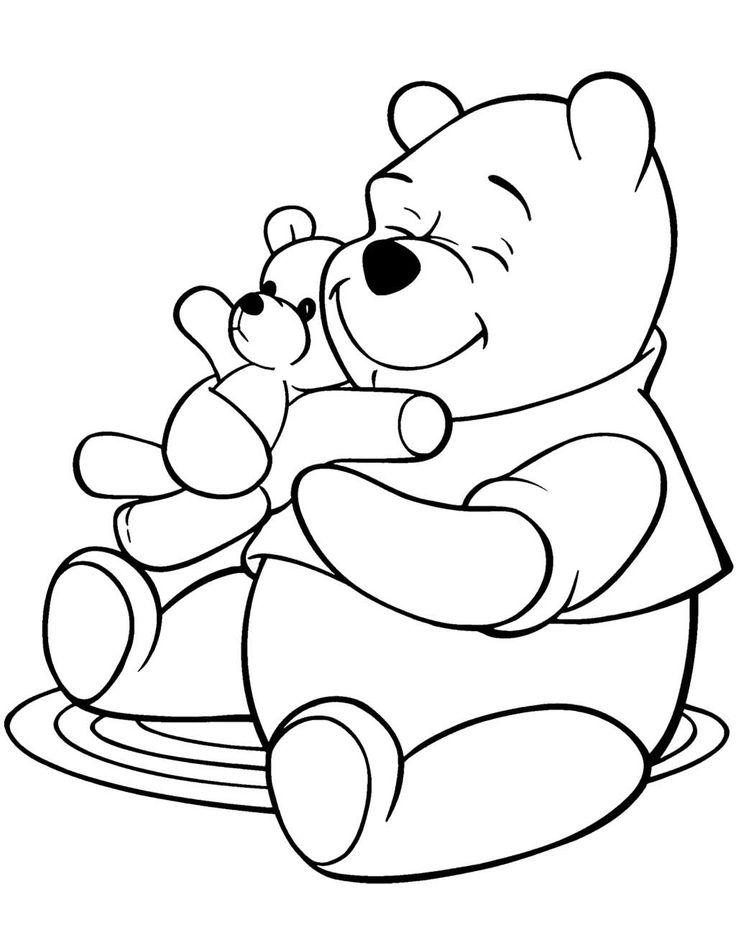 Tranh tô màu chú gấu đáng yêu, dễ thương cho các bé tập tô 8