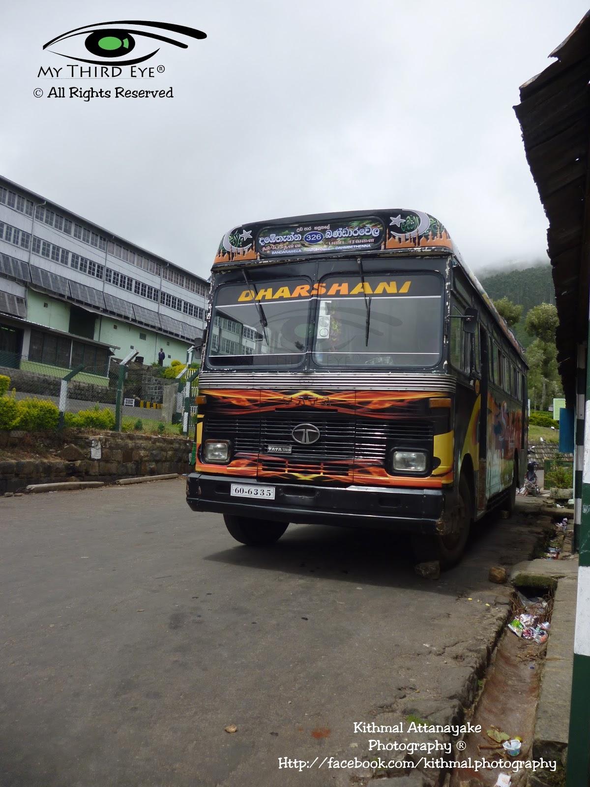 Beyond Through The Lens: TATA 1210 SE Bus From Dambethenna