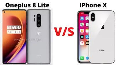 Oneplus 8 Lite vs Apple iPhone X Compare | Battery, Display, Camera, etc