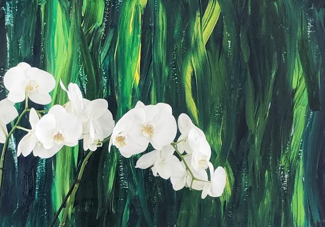 Green Abstract Painting Organic Grass artist Irina Sztukowski