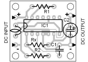 Parts Placement Layout DC to DC Converter