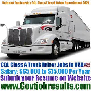 Reinhart Foodservice CDL Class A Truck Driver Recruitment 2021-22