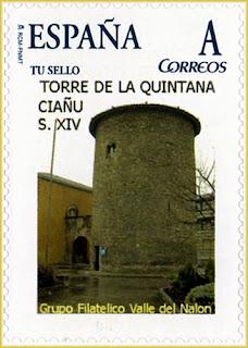 Sello personalizadode la Torre de la Quintana en Ciaño, Langreo