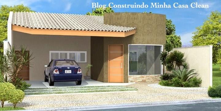 moderna com telhado aparente e garagem fechada