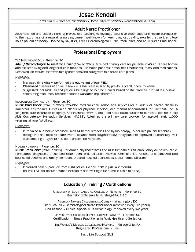Examples Of Nurse Resumes Example Of Nursing Resume College Student