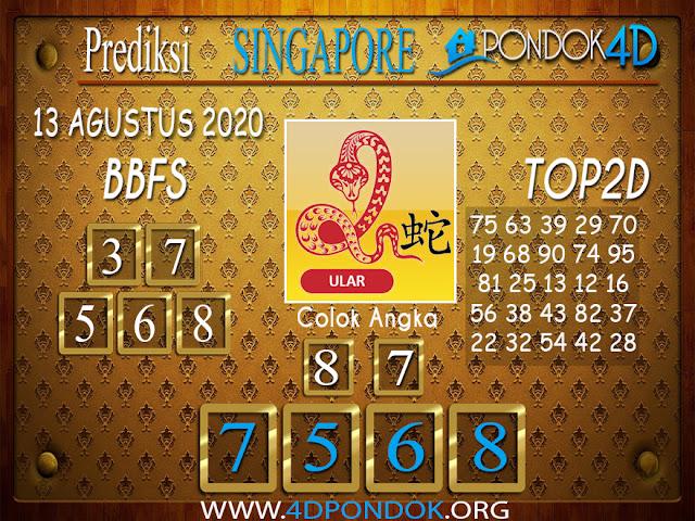 Prediksi Togel SINGAPORE PONDOK4D 13 AGUSTUS 2020
