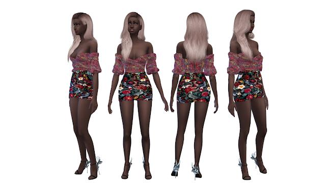 {Female} Clothes SET (SKIRT) PI015-1HQ