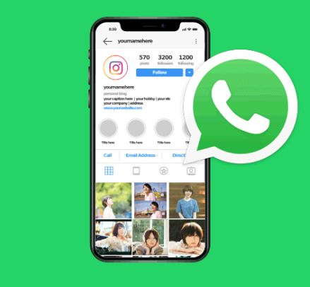 cara membuat link whatsaap di instagram