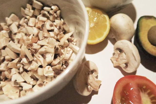 Ceviche de champiñon