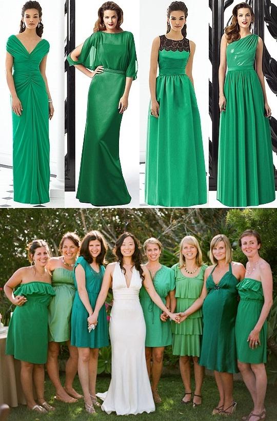 Vestido verde musgo madrinha