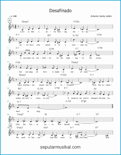 chord desafinado / slightly out of tune 1 lagu jazz standar
