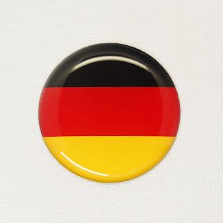 雫屋 国旗3Dステッカー ドイツ