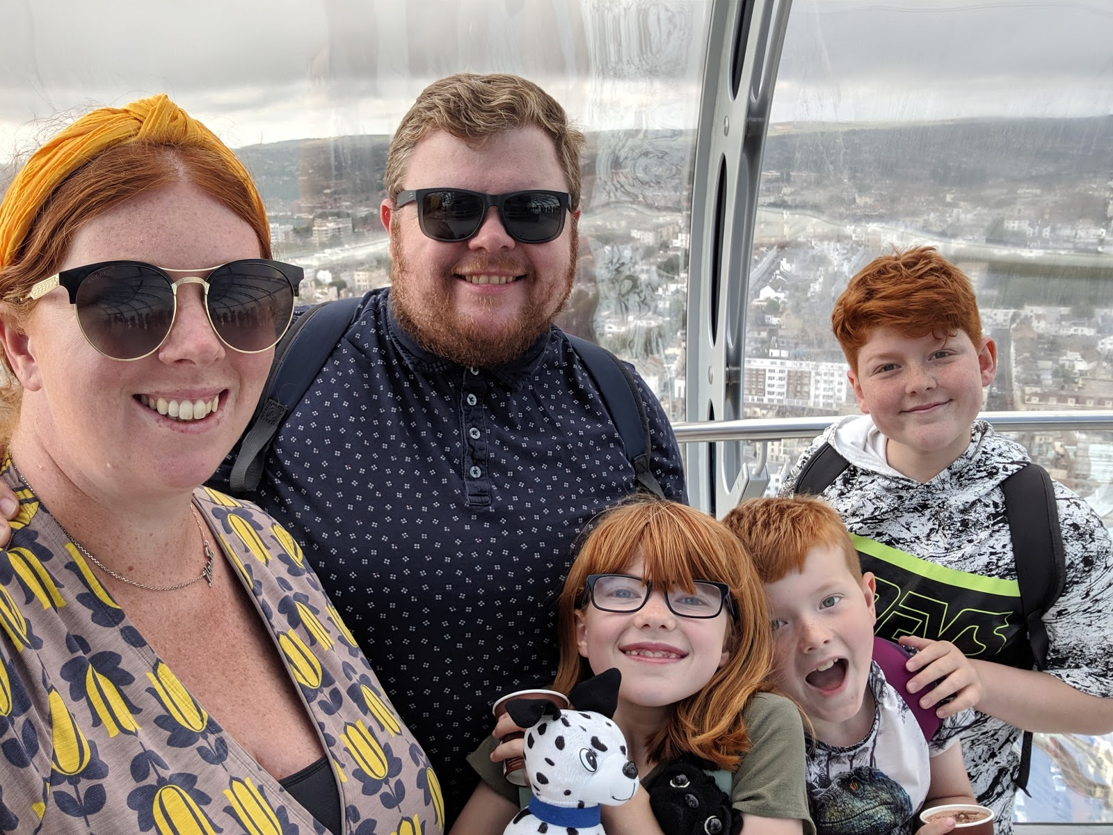 11 Top Tips for Visiting Brighton with Kids  - British Airways i360 selfie