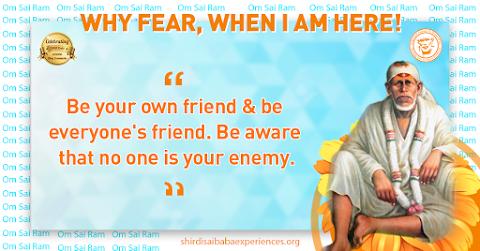 Be Friendly - Sai Baba Dwarkamai Pose Painting Image