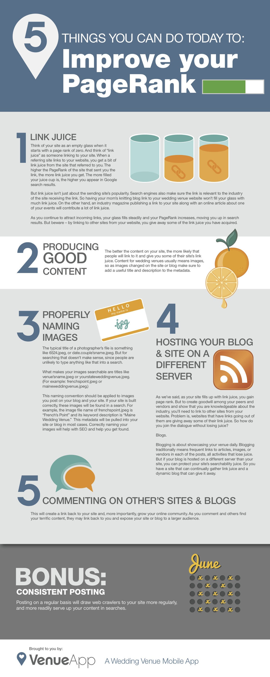 5 Practical Tips on How to Improve your Google PageRank - infographic
