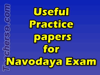 Navodaya Exam Model Practice papers
