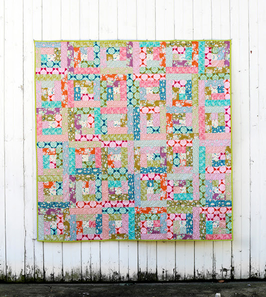 Fat Quarter Log Cabin Quilt designed by Jeni Baker of In Color Order