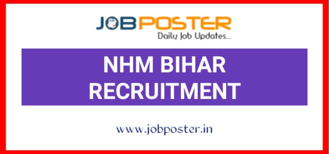 NHM Bihar Recruitment 2020 Jobs for Graduate Post Graduate 70 Vacancies