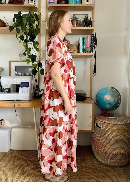 Diary of a Chain Stitcher: Friday Pattern Company Wilder Gown in Cousette Viscose Print from Good Fabric