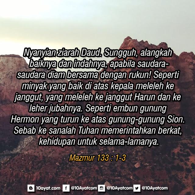 Mazmur 133 : 1-3