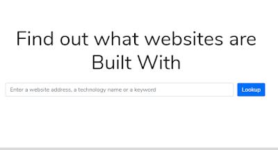 Analisa teknologi website menggunakan builtwith