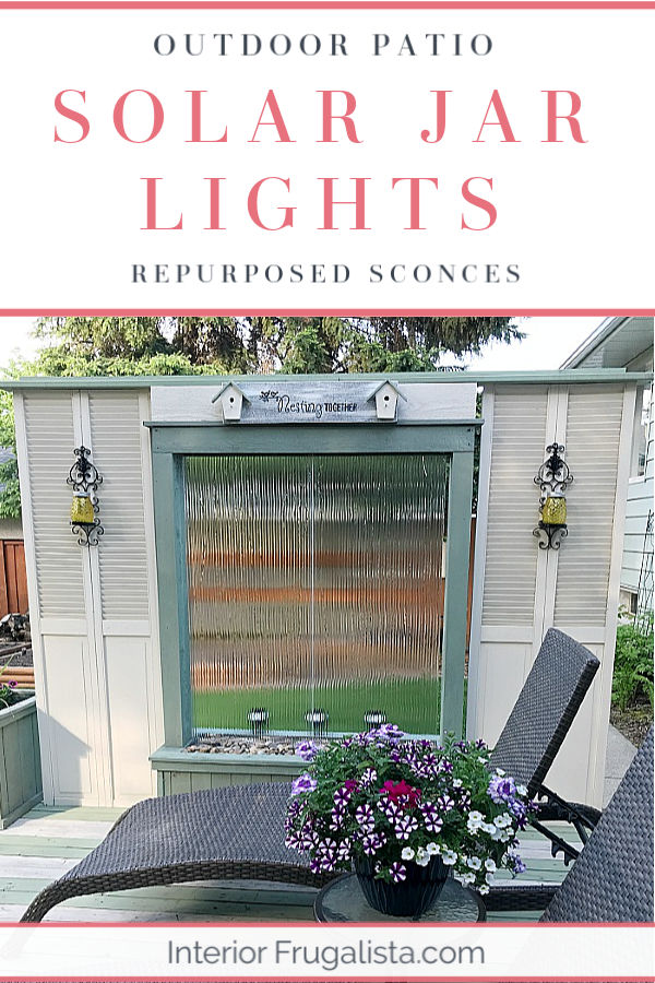 Outdoor Patio Solar Jar Lights