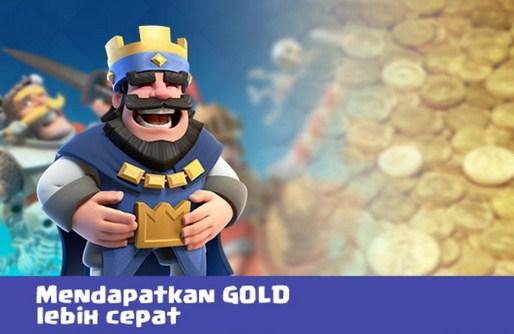 Cara Cepat Memperoleh Gold di Game Clash Royale