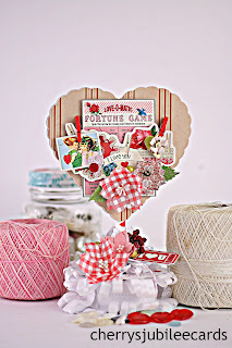 Fortune Game Valentine Table Top Decor by Cherry's Jubilee Cards