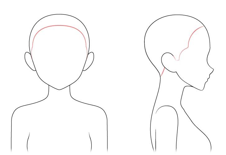 Gambar garis rambut anime