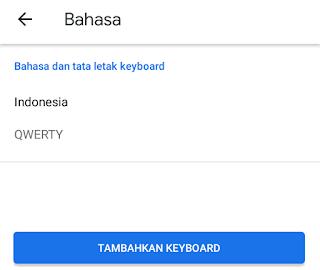 Tekan Tambahkan Keyboard