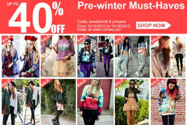 Romwe Pre-Winter Fashion Must Haves! up to 40% off
